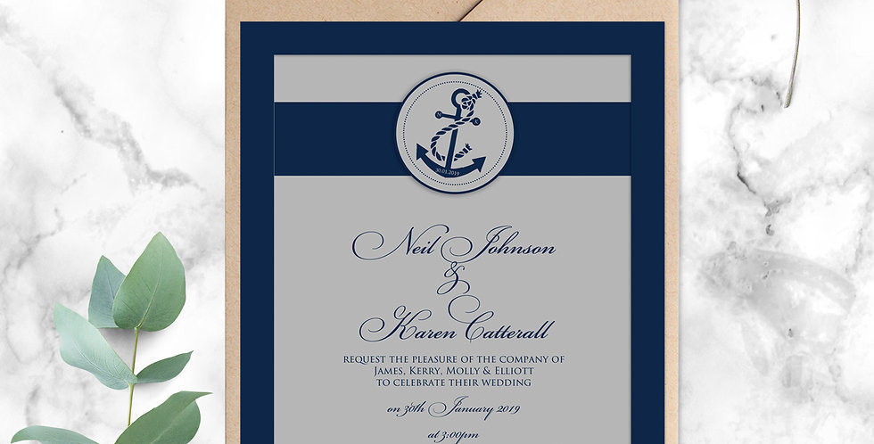 No.7 | Nautica Wedding Invitation