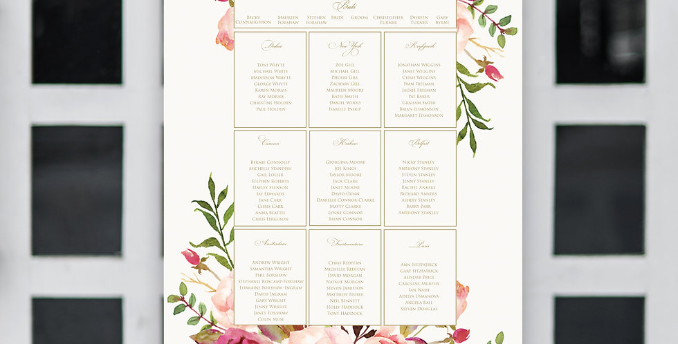 No.4 | Floral Blush Table Plan