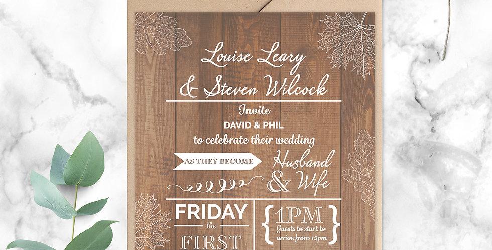 No.11 | Fall in Love Wedding Invitation