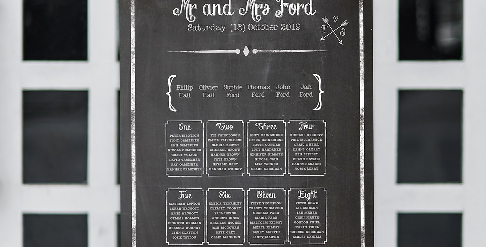 No.17 | Chalk About Love Table Plan