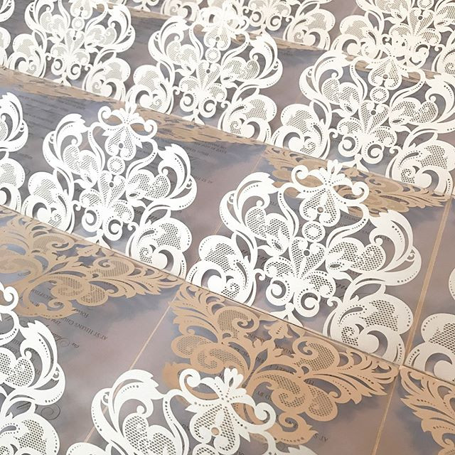 Simply beautiful! It's all in the detail. Swipe across for a few close up pictures of one of our delicate laser cut wedding invitations.jpg