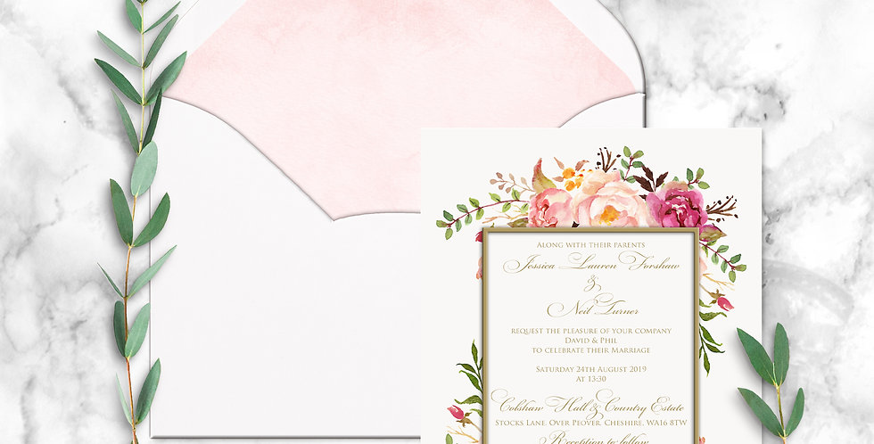 No.4 | Floral Blush Wedding Invitation