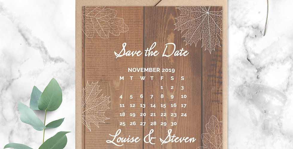 No.11 | Fall in Love Save the Date