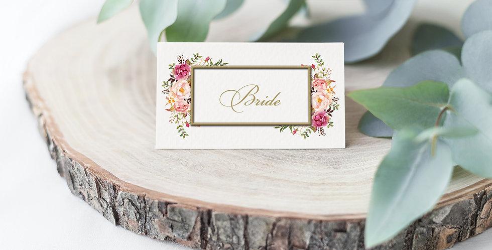 No 4. | Floral Blush Place Card