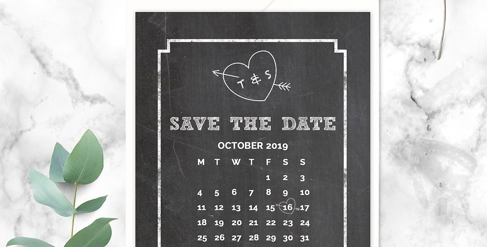 No.17 | Chalk About Love Save the Date
