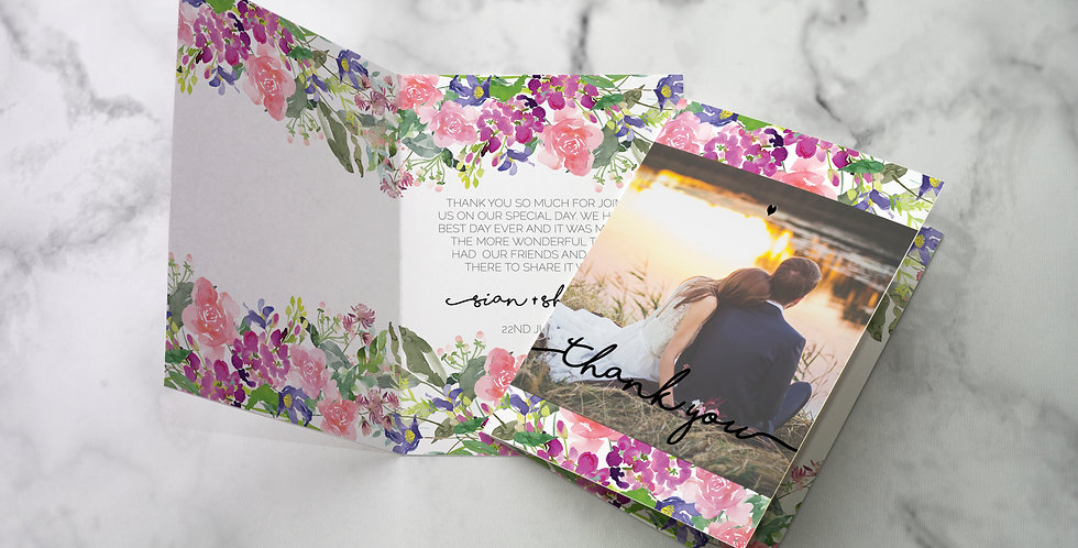 No 6. | Wildflowers Thank Cards