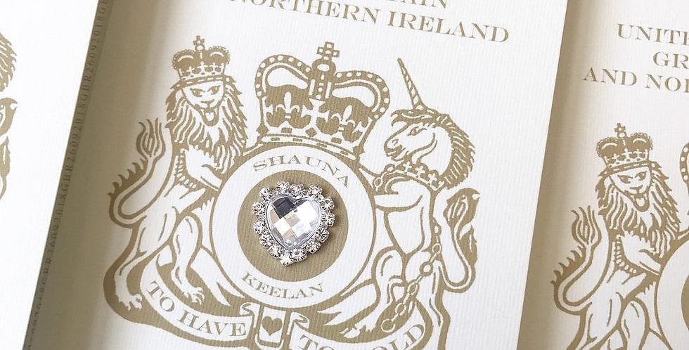 No.1   Sparkly Wedding Passport