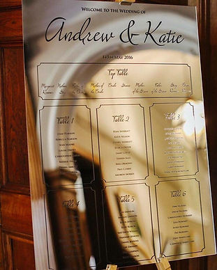 Mirrored Luxury Table Plan