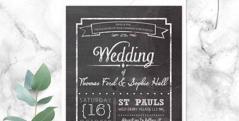 No.17 | Chalk About Love Wedding Invitation