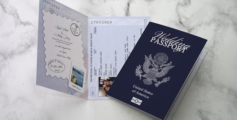 No.1 | American Wedding Passport / Travel Collection