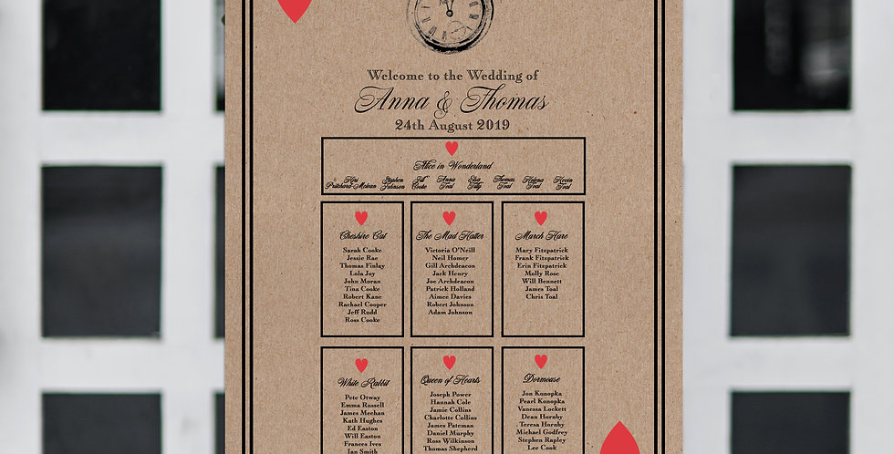 No. 8 | A Very Important Date Table Plan