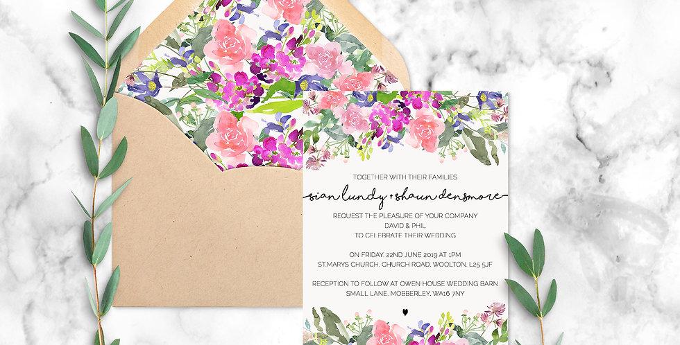 No.6 | Wildflowers Wedding Invitation