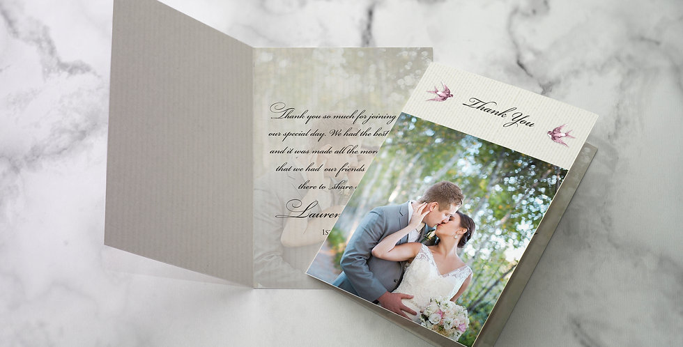 No 2. | Vintage Swallows Thank You Cards