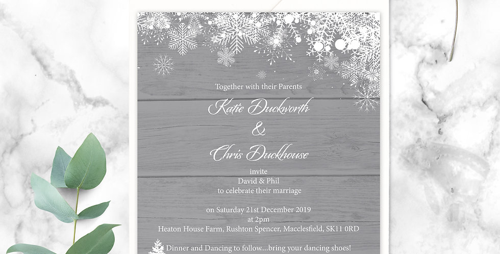 No.15 | Winter Wedding Invitation