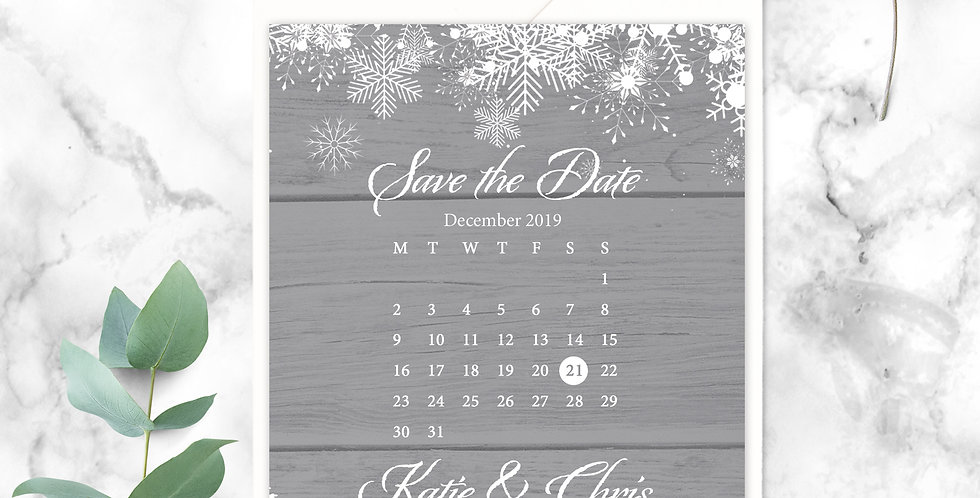 No.15 | Winter Save the Date
