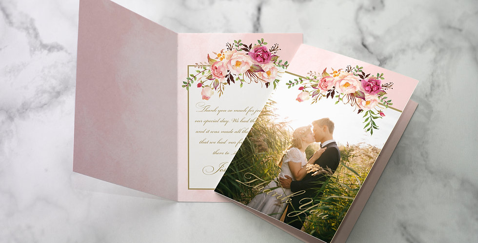 No 4. | Floral Blush Thank You Cards