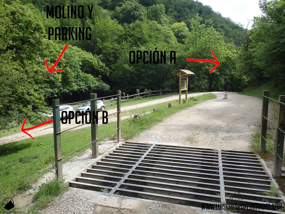 parking y molino viaña