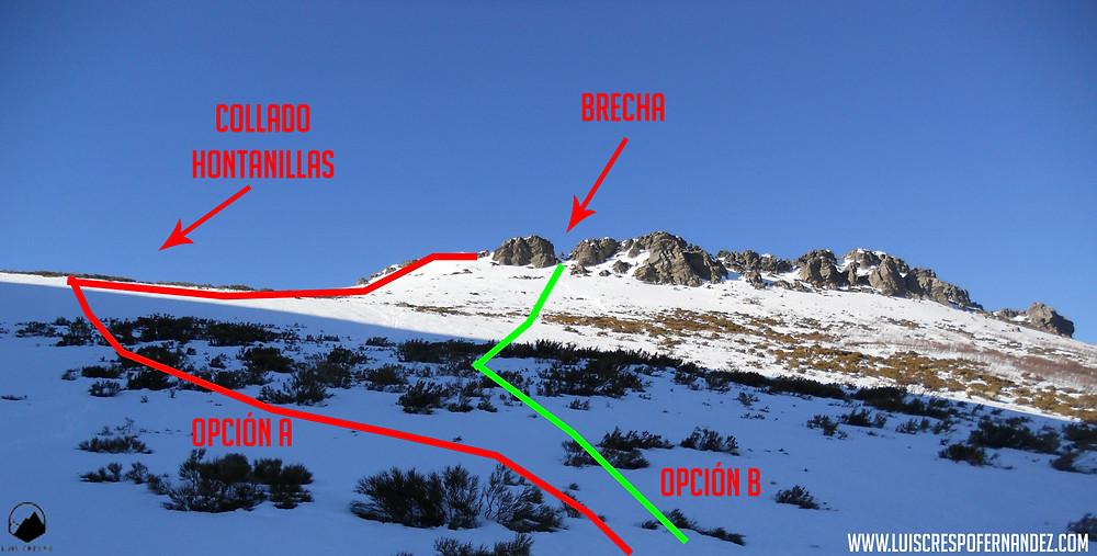 Cercanías del collado de Hontanillas en las cercanías de la cima de Peña Carazo.