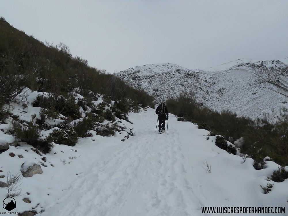 Camino hacia el Pozo de las Lomas.