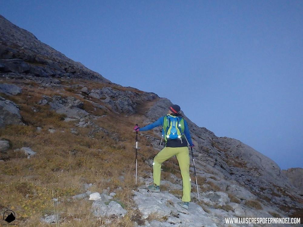 Ascendiendo por la Gran diagonal Norte del Espigüete