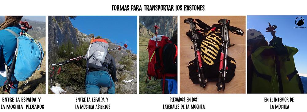Formas para transportar nuestros bastones de montaña cuando no los estamos utilizando
