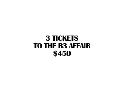 3 B3 Affair Tickets