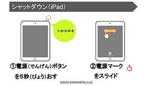 iPadのシャットダウン
