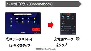Chromebookのシャットダウン