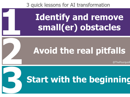 3 Quick lessons for AI transformation