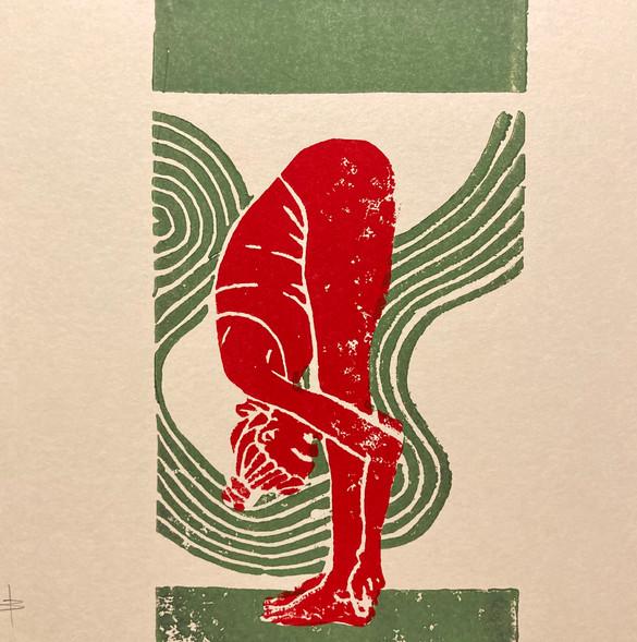 Uttanasana II grün/rot