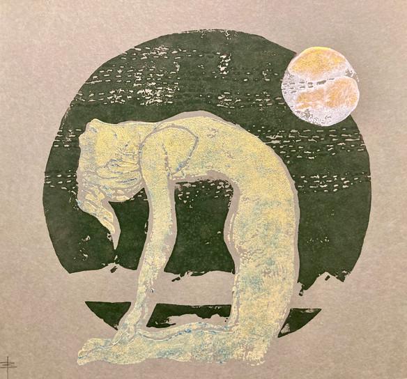 Ustranasana grün-silber
