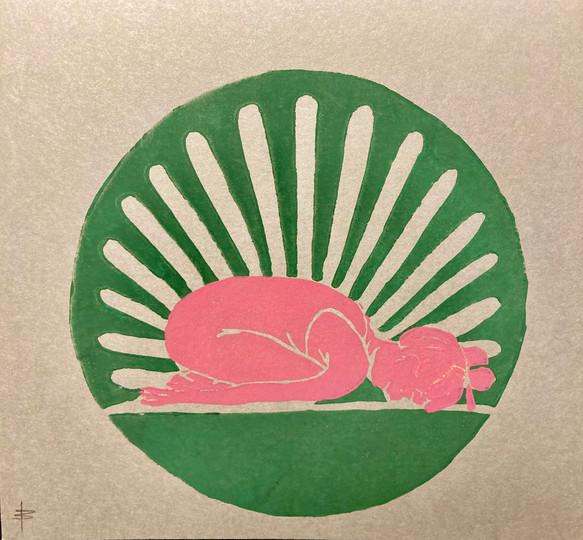 Balasana grün/rosa