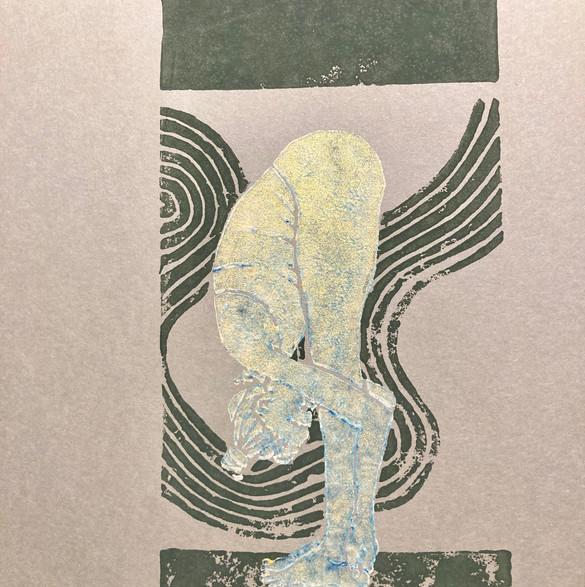 Uttanasana II grün/silber