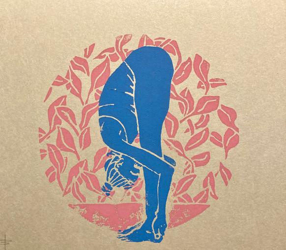 Uttanasana rosa/blau