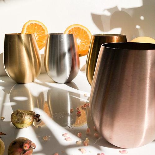 Stainless Steel Curved Tumbler: Wine Tumbler | Drinkware | Drinking Tumblers