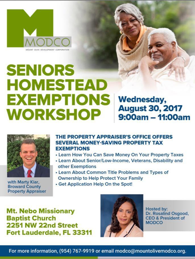 Seniors Homestead Exemptions Workshop