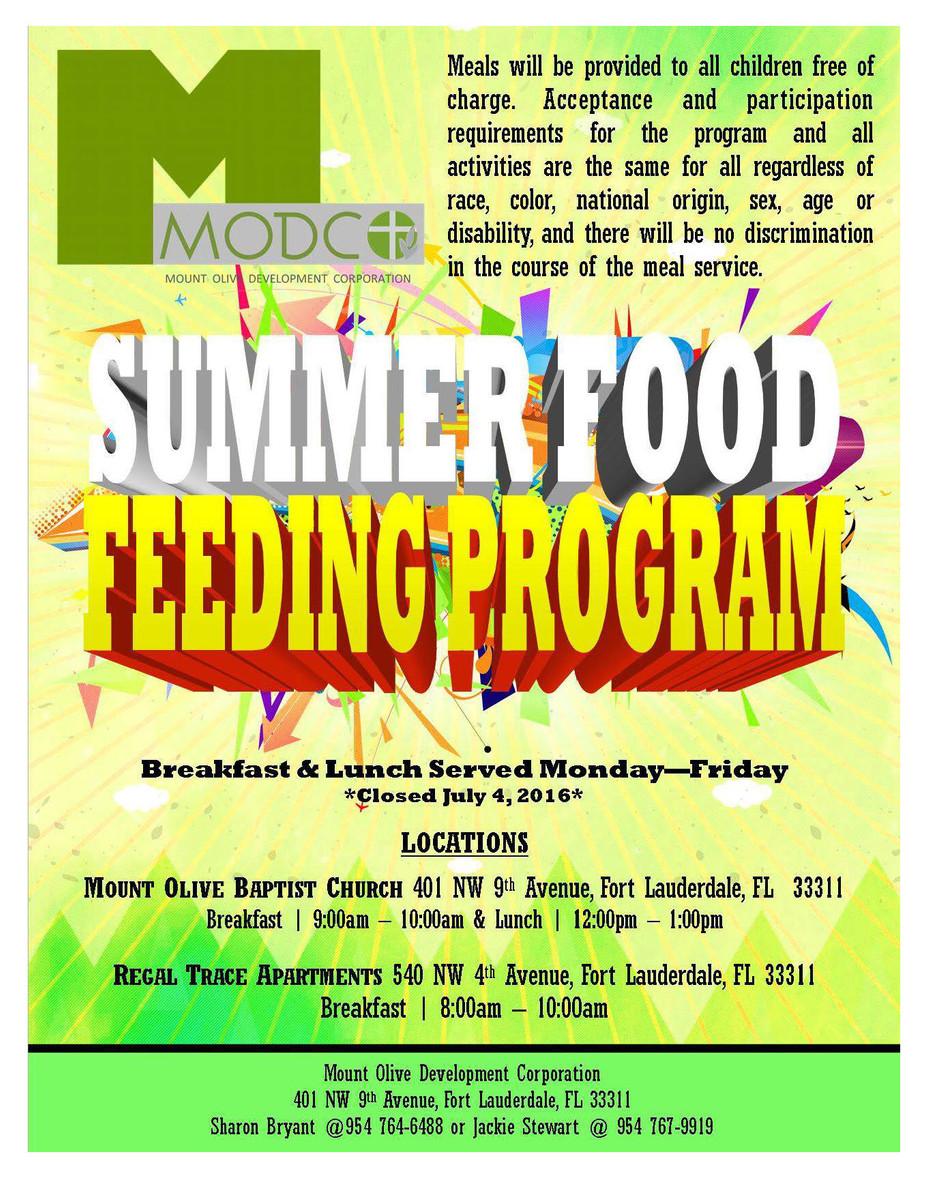 Summer Food Feeding Program