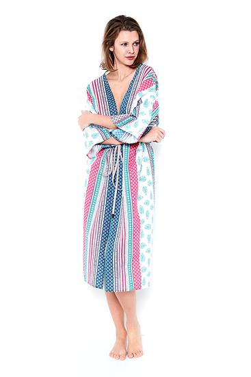 Kimono Mandalatropfen in Grüntönen