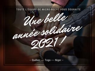 Voeux de solidarité pour 2021