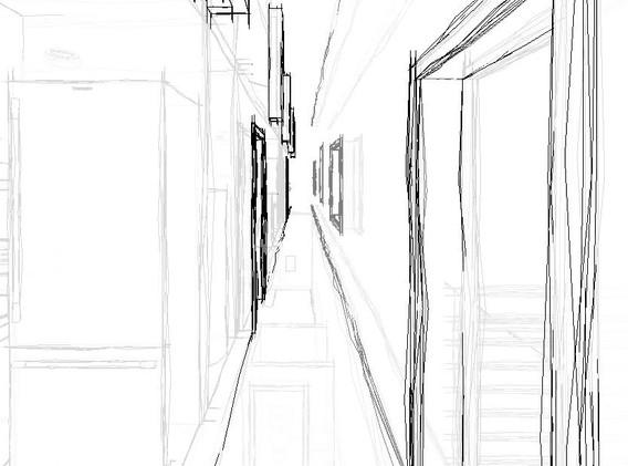 hallway sketch