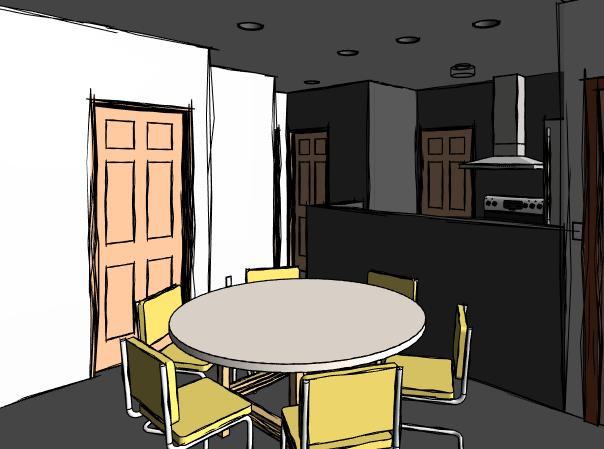 interior apartments sketch