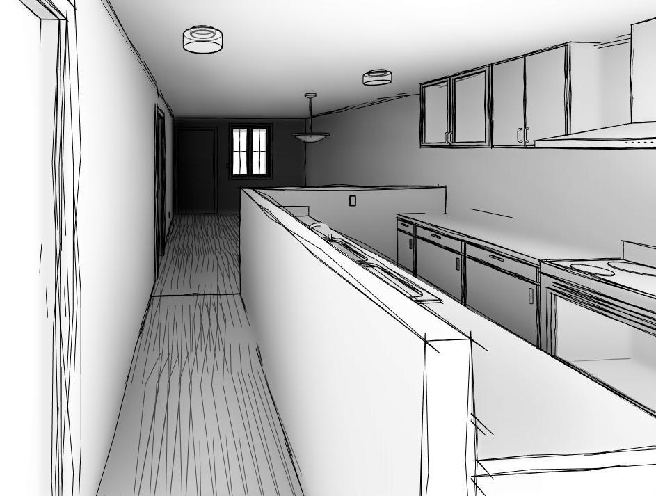 interior sketch cont.