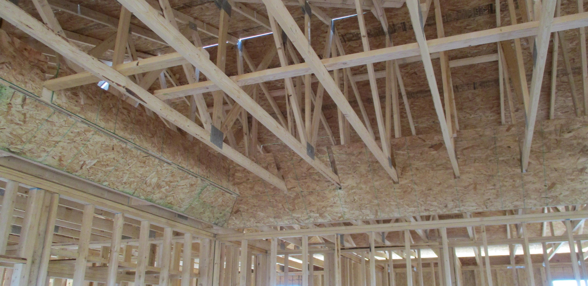 current roof framing view