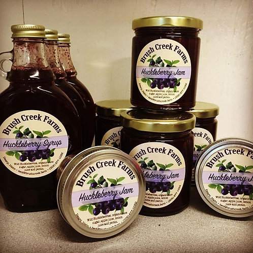Huckleberry Syrup and Jam