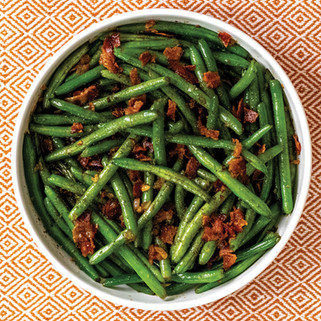 Bacon & Bourbon Green Beans Flambe