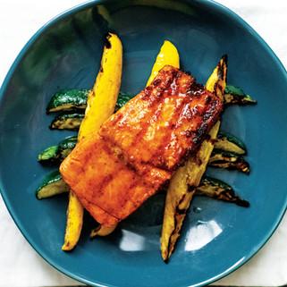Grilled Salmon & Squash