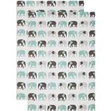 Teal Elephant Dishtowel