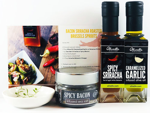 Bacon Sriracha Brussels Sprouts Gift Set