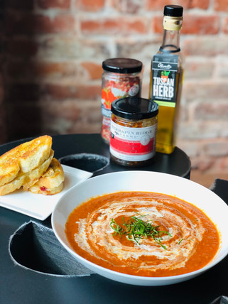 Creamy Tomato Soup & Mini Grilled Cheese