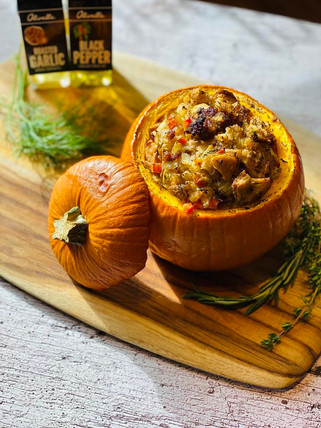 Fennel & Apple Stuffing Stuffed Pumpkin